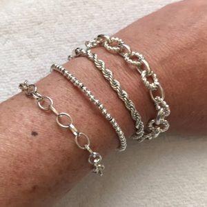 Jewelry - 4 Silver Bracelets